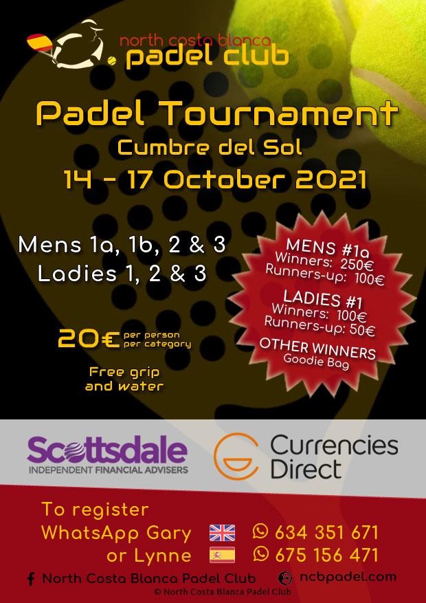14-17 October 2021 - Mens 1a, 1b, 2, 3 - Ladies 1, 2, 3